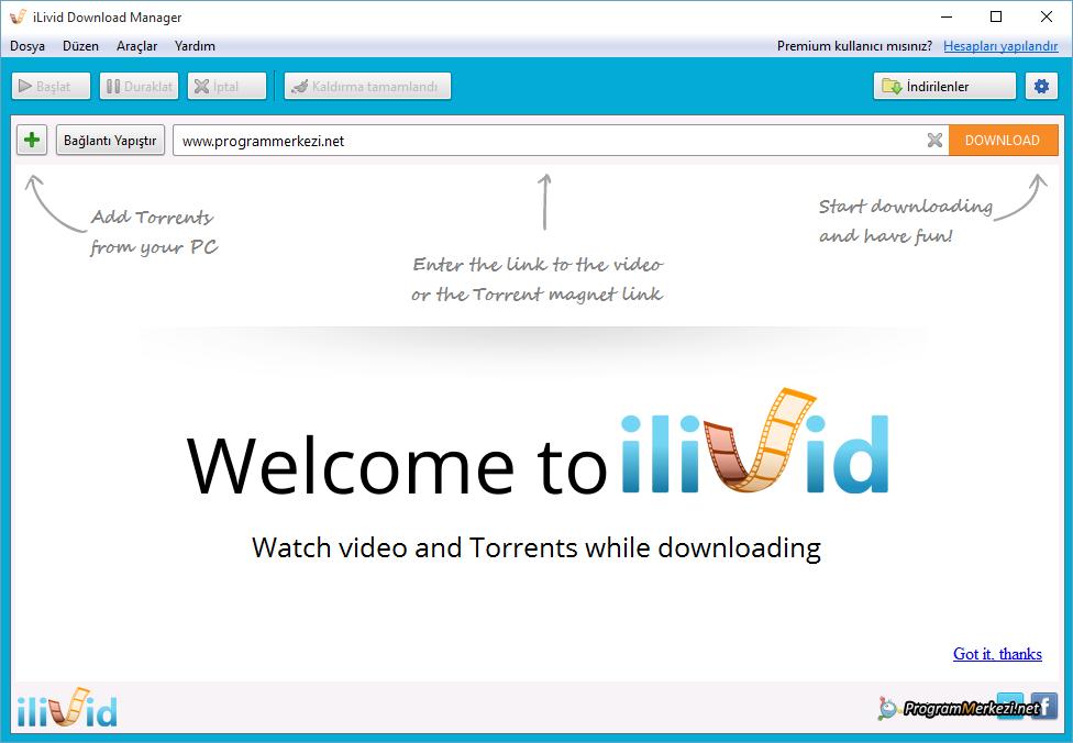 iLivid Download Manager İndir