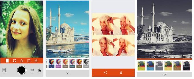 Retrica Android Uygulaması